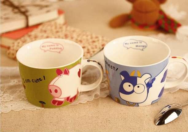 人见人爱的卡通小动物,让简简单单的汤杯变得是那么温馨,可爱.