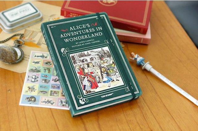 爱丽丝硬面绑带记事本